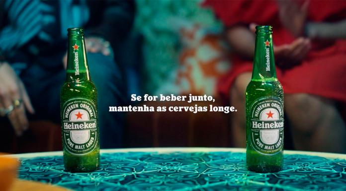 Campanha da Heineken sobre a vida social com segurança.