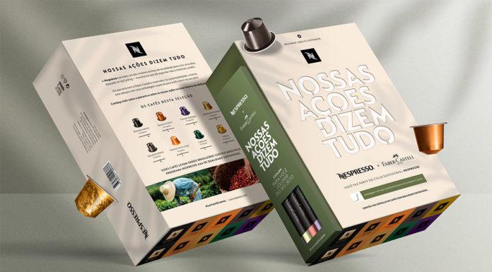 Pack de café da Nespresso em parceria com a Faber-Castell.
