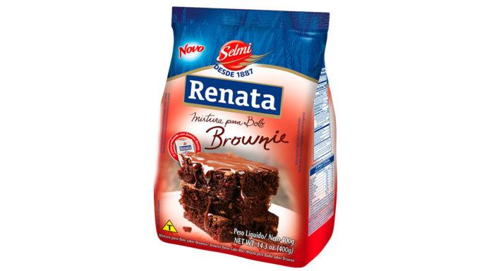 Mistura para bolo sabor Brownie Renata.
