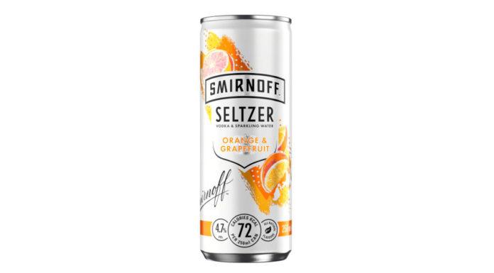 Smirnoff Seltzer Orange & Grapefruit.