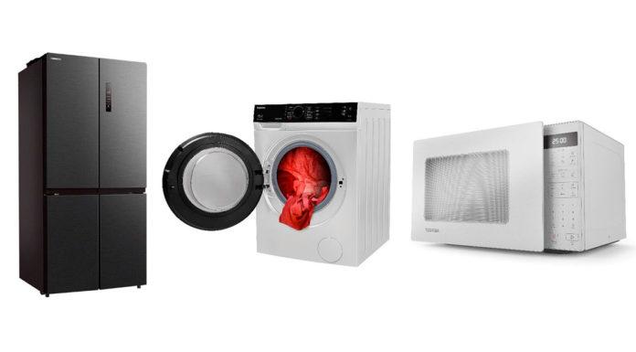 Eletrodomésticos da Toshiba.