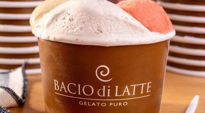 Gelato da Bacio di Latte, que estará nas ações do Dia do Sorvete.
