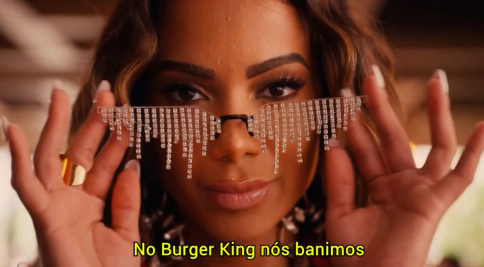 Campanha do Burger King com Anitta.