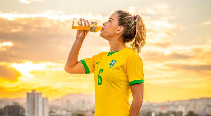 Tamires Dias como embaixadora da Gatorade.