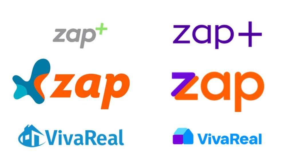 Antes e depois logos ZAP