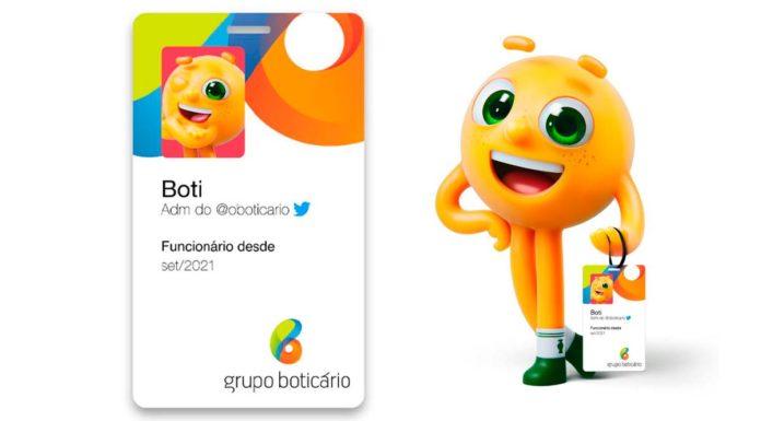 Boti, ADM de O Boticário no Twitter