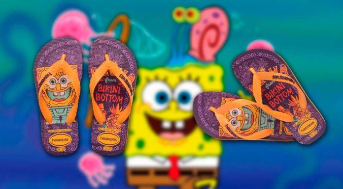 Chinelos Bob Esponja da parceria entre Nickelodeon e Havaianas