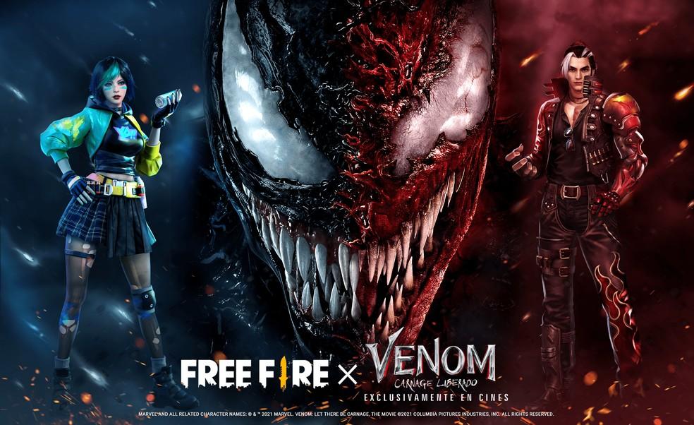 Parceria Venom x Free Fire