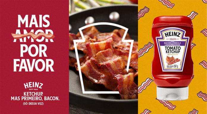 Banner da ação da Heinz, em que a marca irá trocar presentes de ex-namorados por bacon.