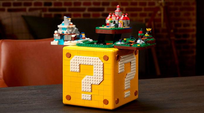 Lego de Super Mario 64 aberto.