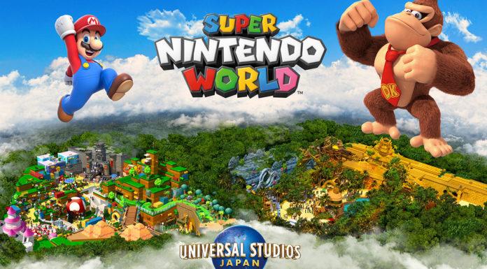 Parque do Donkey Kong na Universal Studios Japan.