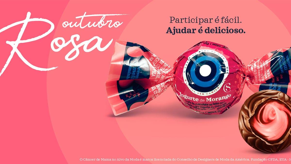 Campanha da Cacau Show para o Outubro Rosa.