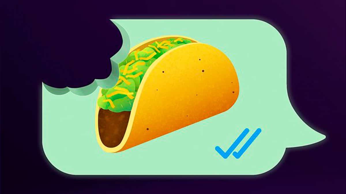 Taco Bell troca emoji de tortilla por taco grátis.