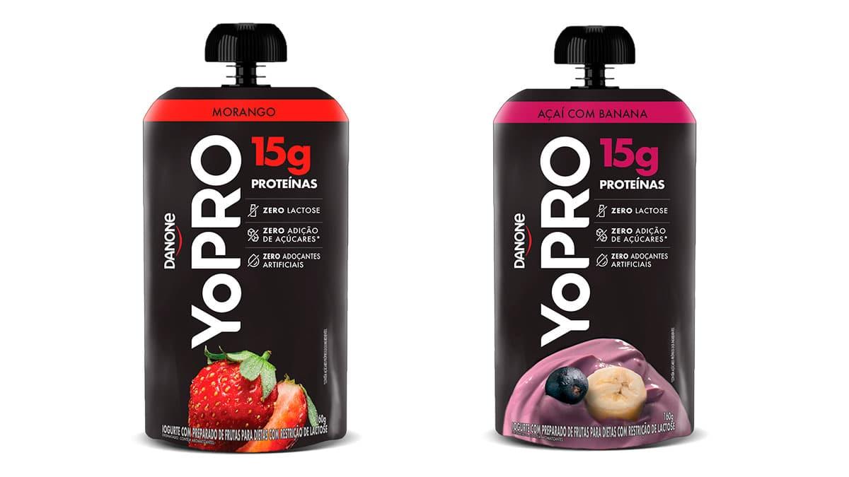 Nova embalagem de YoPRO.
